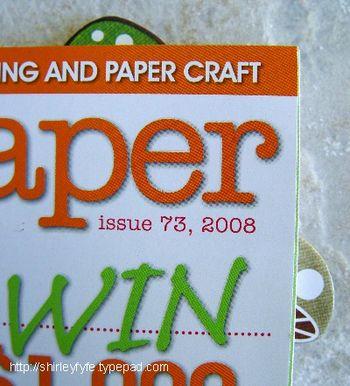 Bookmark in Mag Close-up