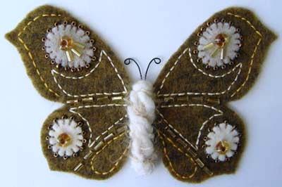 Beaded Felt Butterfly 1