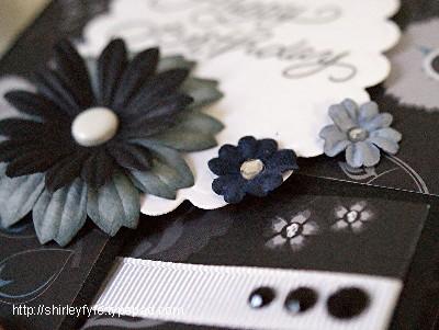 Rasberry - Black Greeting Card Close-up 3