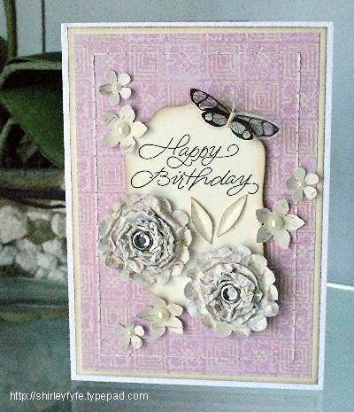 3D Scrunch Blossom Card 1