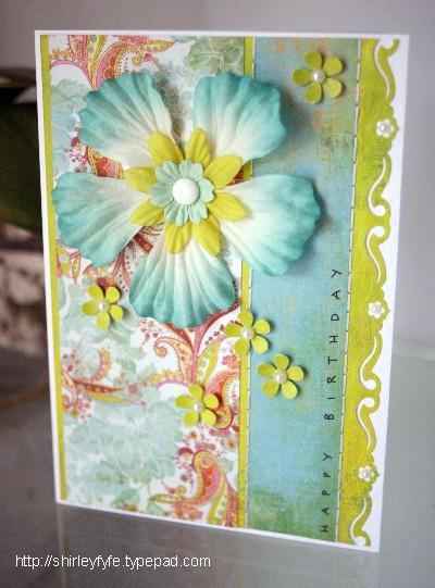 HB Card - Aqua Hibiscus 1