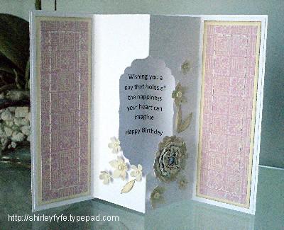 3D Scrunch Blossom Card 3