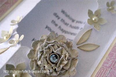 3D Scrunch Blossom Card 4