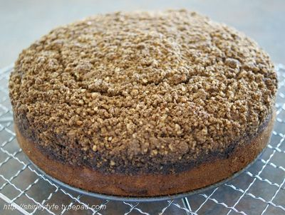 Banana Cake with Crumble Topping