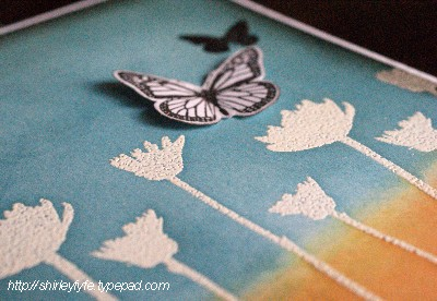 Blended Ink Butterfly Card Close-up 2