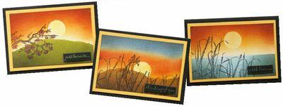 Blended Sunset Cards