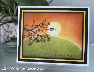 Kaszazz - Blended Sunset Card