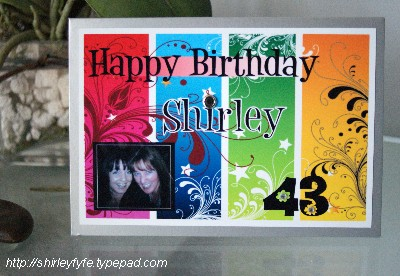 Happy Birthday Shirley Card