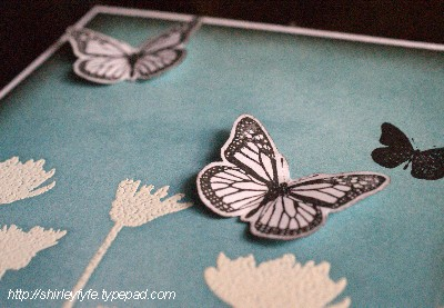Blended Ink Butterfly Card Close-up 1