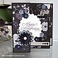 Rasberry - Black Greeting Card