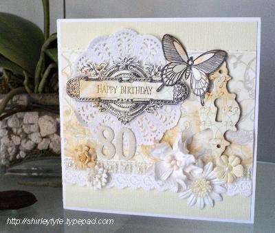 80th Birthday Card 1