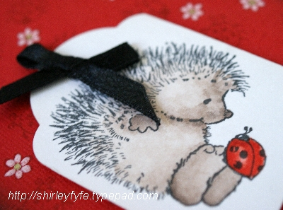 Hedgehog Ladybird Greeting Card 2