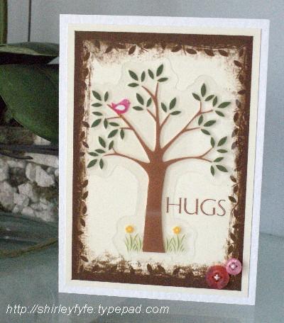 Hug tree card
